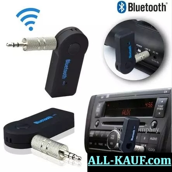 Freisprecheinrichtung Bluetooth Adapter Autoradio Musikplayer 3,5 mm Klinke AUX