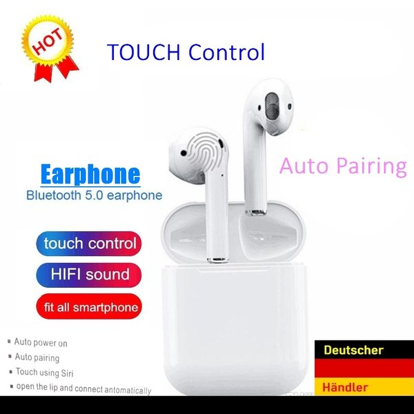 Bluetooth Kopfhörer Ear Pods Air Bud inkl Powerbank TOUCH Control Version *2019*